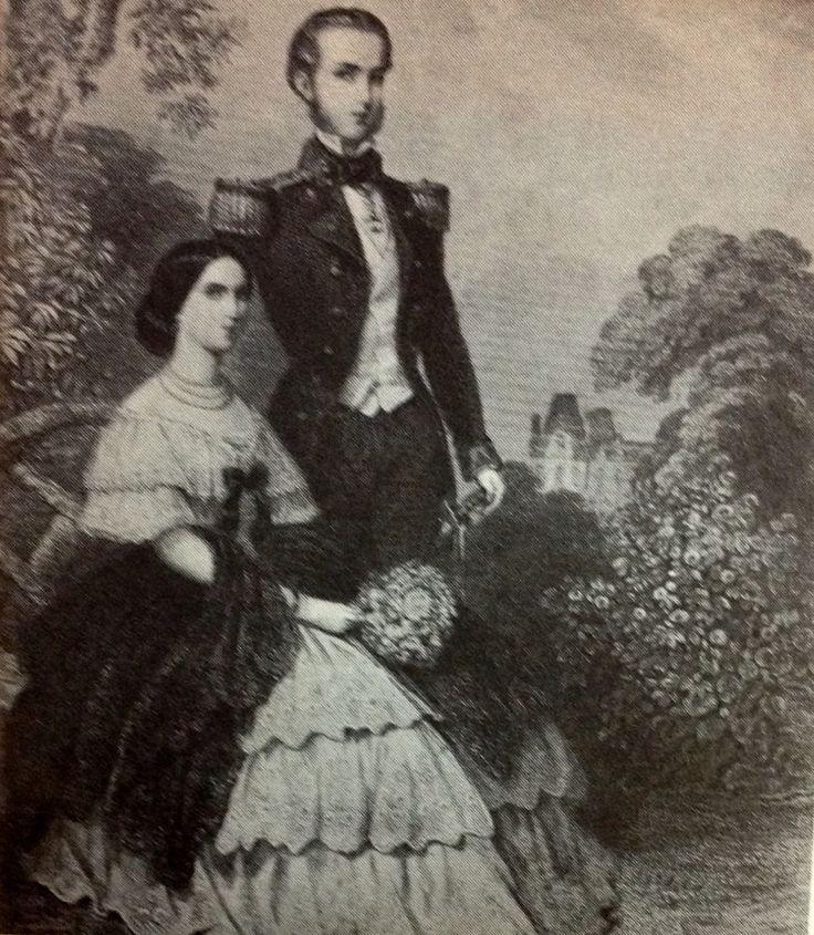 Maximiliano y Carlota ,el día de su compromiso matrimonial.