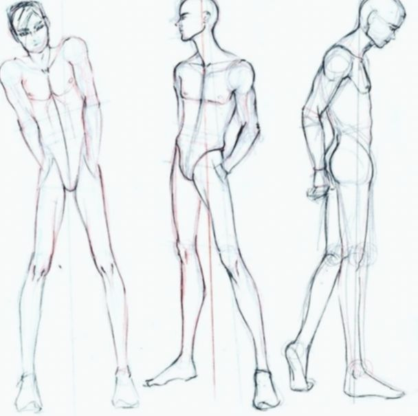 16 Anime Guys Base Sketch Male Body Drawing Male Figure Drawing Body Drawing