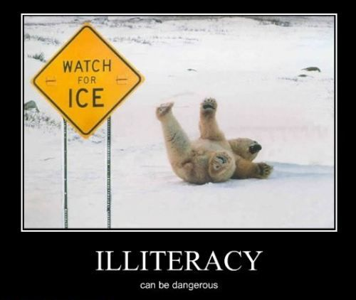 signs of adult illiteracy