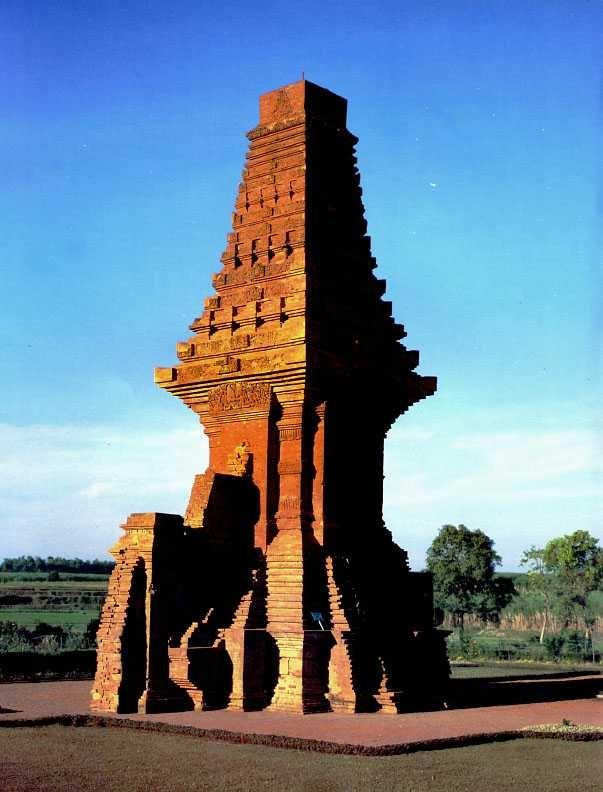 The restored gateway of Candi Bajang Ratu at Trowulan, Mojokerto, Indonesia.