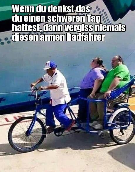 Armer Radfahrer