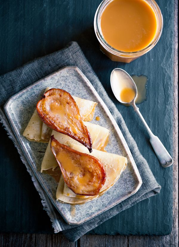 roasted pear crepes + 9 other delicious sweet crepe recipes.