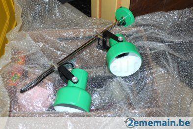 Suspension verte peps en métal - N.O.S. - 70's, orientable - A vendre