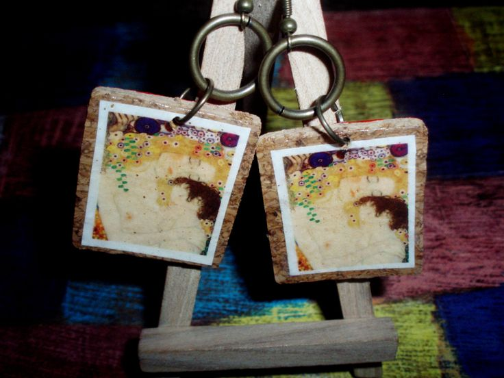 the artistic ArtePovera earrings/ fond of Klimt