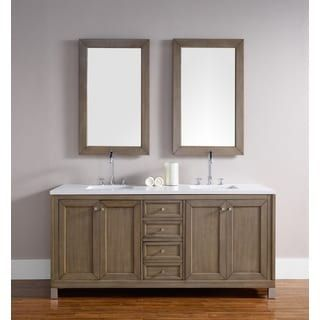 Shop For Chicago 72 Inch White Washed Walnut Double Bathroom Vanity. Get  Free Delivery