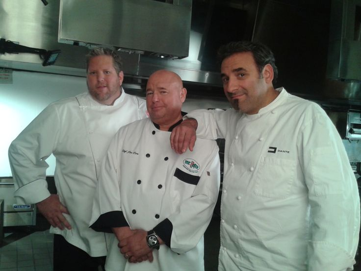 Chef Jim with his other Chef buddies Dante and Brandt on the set of a Mr. Hero TV commercial shoot in 2013.