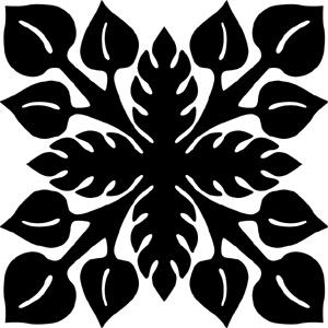 Hawaiian Quilt Tile 40 : HaoleKid