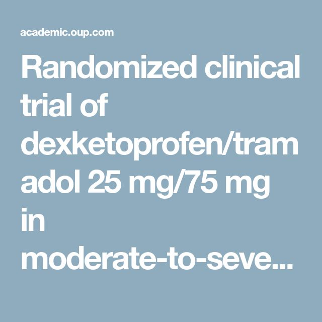 Randomized clinical trial of dexketoprofen/tramadol 25 mg/75 mg in moderate-to-severe pain after total hip arthroplasty | BJA: British Journal of Anaesthesia | Oxford Academic