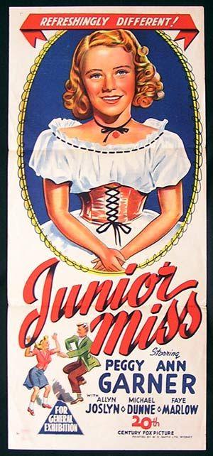JUNIOR MISS '45-Peggy Ann Garner RARE poster