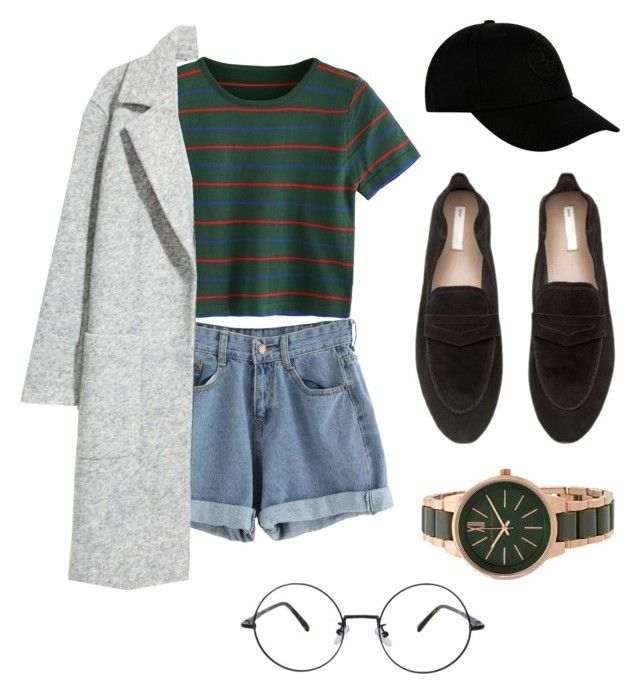 """Al's Outfit #3"" by rubidinar on Polyvore featuring H&M, STONE ISLAND, Anne Klein, StreetStyle, shorts and kpopinspired"