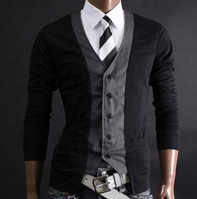 Two Tone Fashion Cardigan