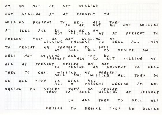 carl andre - am am not am not willing (1972)