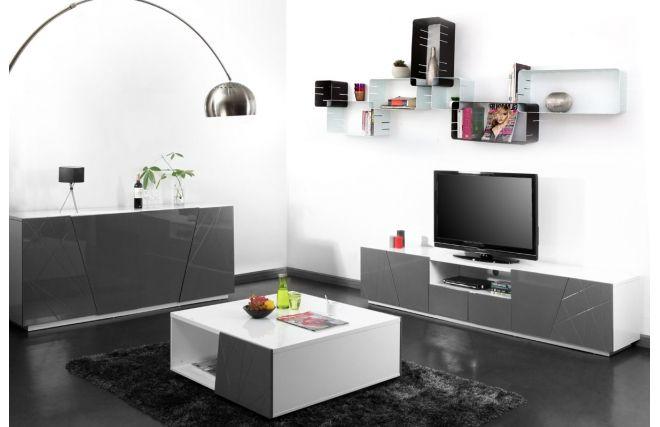 Soldes Meuble TV Miliboo, achat en soldes Meuble TV design gris ALESSIA prix Soldes Miliboo 449,00 € TTC Prix conseillé : 499 € soit -10%