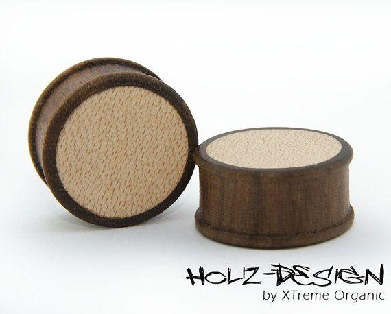 8-70 mm Paar Pair Holz Flesh Tunnel Ohr Plugs in verschiedenen Holzvarianten von XTremeOrganic auf Etsy, €38.00  8-70mm Pair of Wooden Ear Plugs, Gauge Plugs, Flesh Tunnels available in different Color variations on Etsy, €38.00