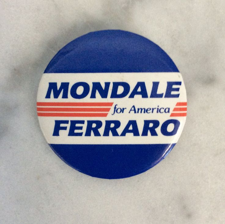 Vintage Political Pin Back Campaign Button for Walter Mondale and Geraldine Ferraro by MargiesCoolStuff on Etsy