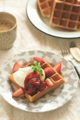 「ヨーグルトワッフル」kaiko   お菓子・パンのレシピや作り方【corecle*コレクル】