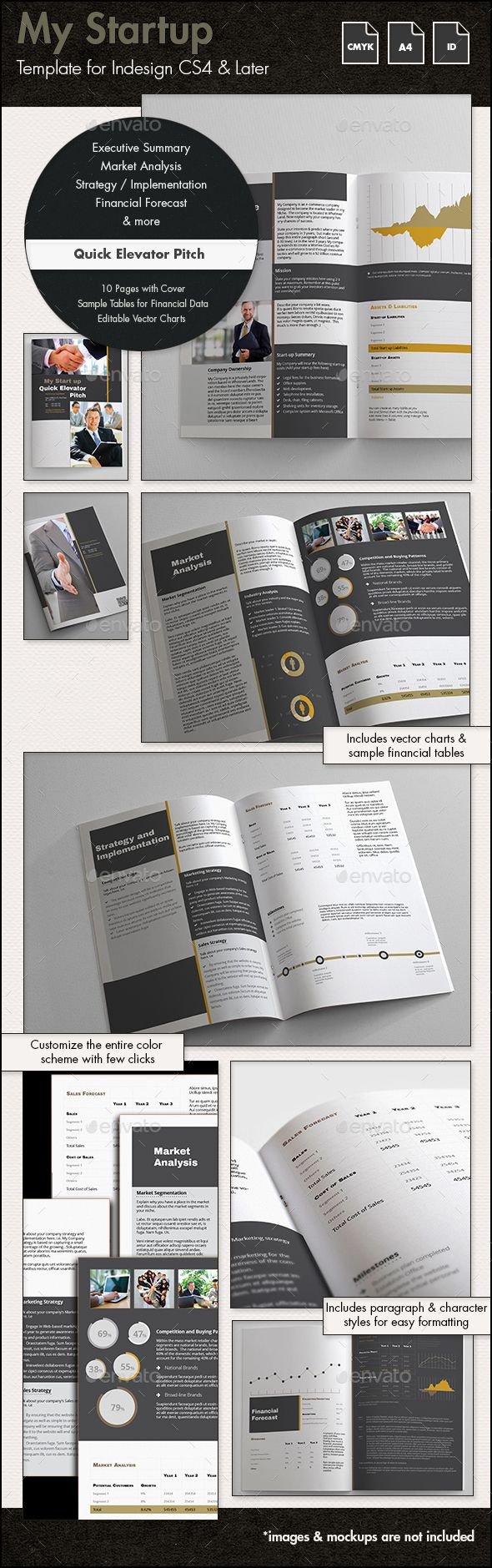 images about design haven templates food my startup quick elevator pitch template a4
