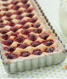 raspberry-brown butter-creme fraiche tart