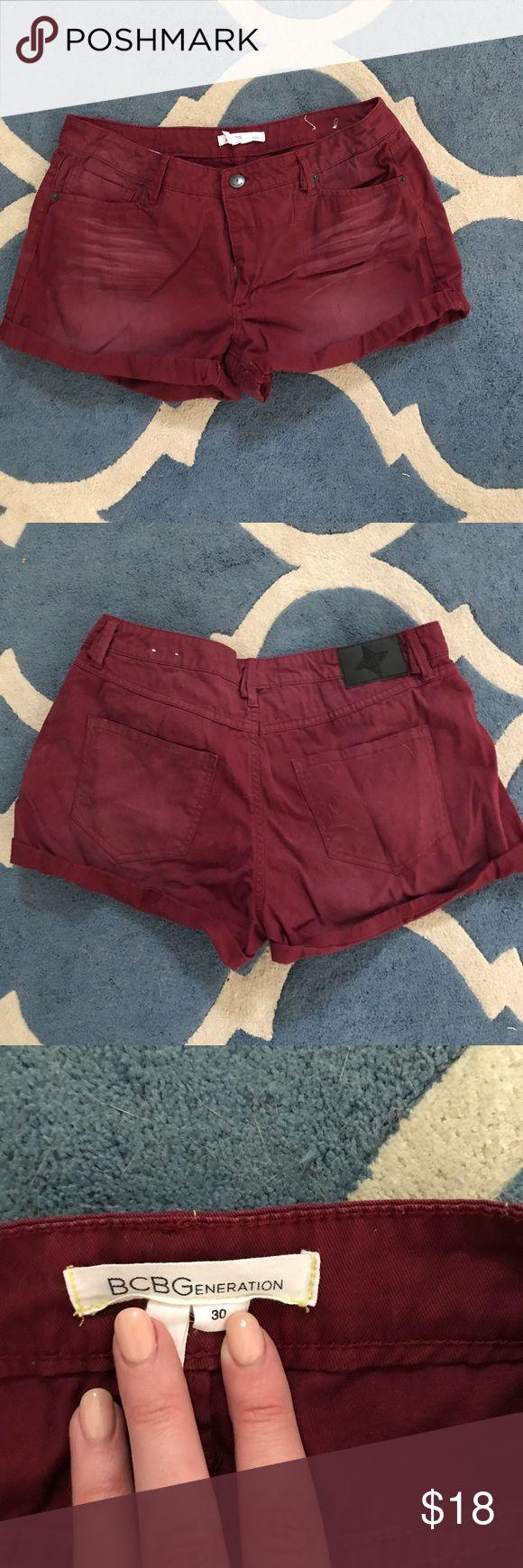 BCBGeneration shorts Maroon BCBGeneration shorts. NWOT BCBGeneration Shorts