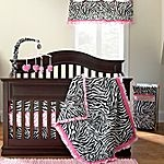 Okie Dokie® Lipstick Zebra Bedding and Accesories