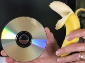 Repair Scratched DVDs with a banana peel