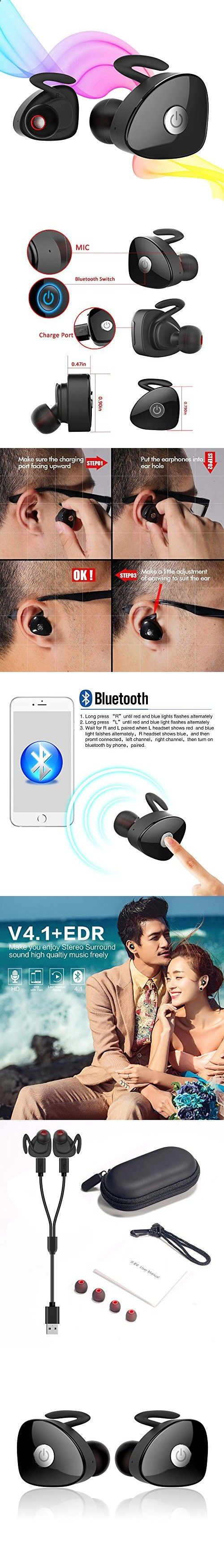 Sports Headphones - Cordfree Bluetooth Earphones, Egrd Mini Invisible Truly Wireless Bluetooth Sports Headphones Earbuds,2 Working Modes-Dual Ear Mode/Single Ear Mode,Sweatproof Fitness Earphones With Mic - If you usually go out to run, walk or any other sport in which you usually carry music to accompany or motivate you, we have selected 13 models of sports headphones that we consider among the best in the market for different aspects, from comfort to use to design, sound quality or v...