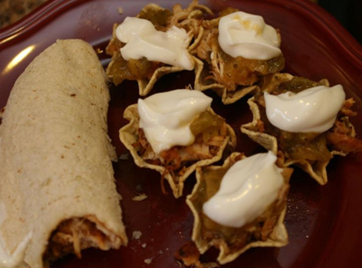 Smoky Chicken Tacos/Scoops | Cat's Appetizers | Pinterest