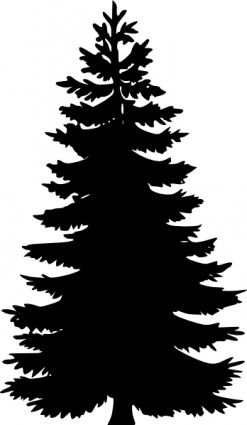 Tree Silhouettes clip art Free vector in Open office drawing svg ...