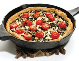 Cast iron skillet recipes for camping: Deep-Dish Skillet Pizza