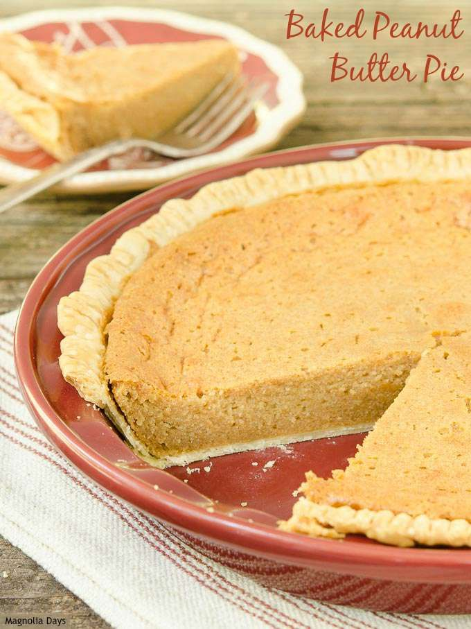 Baked Peanut Butter Pie. A real peanut butter pie like it should made from back in the day