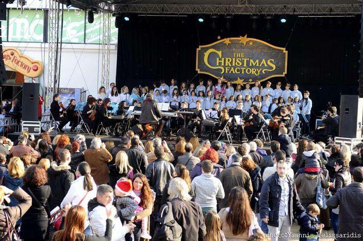 #TheChristmasFactory #Technopolis_gazi #athens #technopolis #greece #christmas #lights #singing #songs