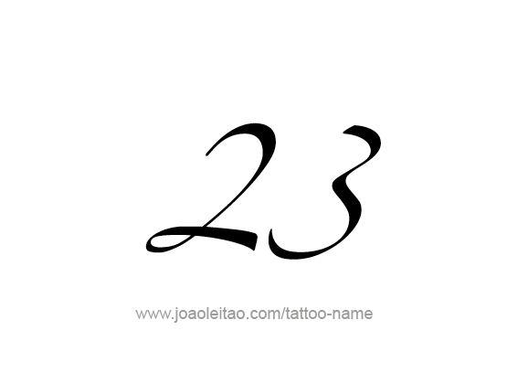 Il numero 23 rappresenta in numerologia l'enigma, la casualità degli eventi. Nella teoria dei bioritmi di Swoboda e Fliess, il ciclo Fisico dura 23 giorni e influenza la vitalità, la resistenza alla fatica e alle aggressioni ambientali, il vigore e la tolleranza.