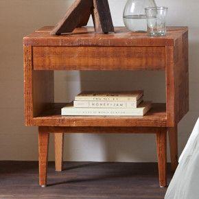 Vintage Fir Modern Century Side Table