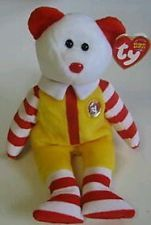 Ty Beanie Baby: Exclusive Ronald McDonald Bear Happy Meal Collectible Toy Rare