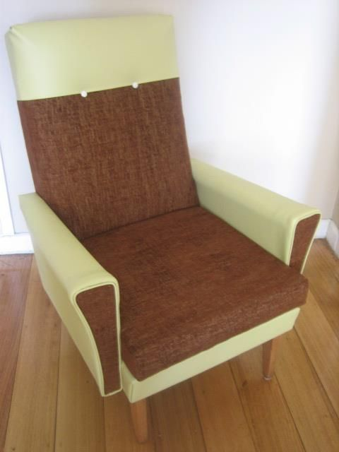 Recovered retro armchair