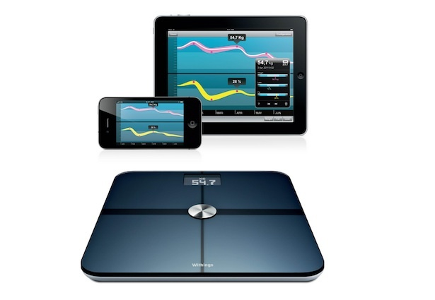 Withings Smart Scale and Health Companion App // Sync your phone with this scale for a full digital health evaluation.
