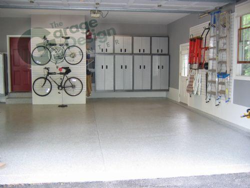 56 best inside garage ideals images on pinterest modern for Finished garages interior