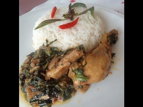 Chicken with spinach Stew - YouTube