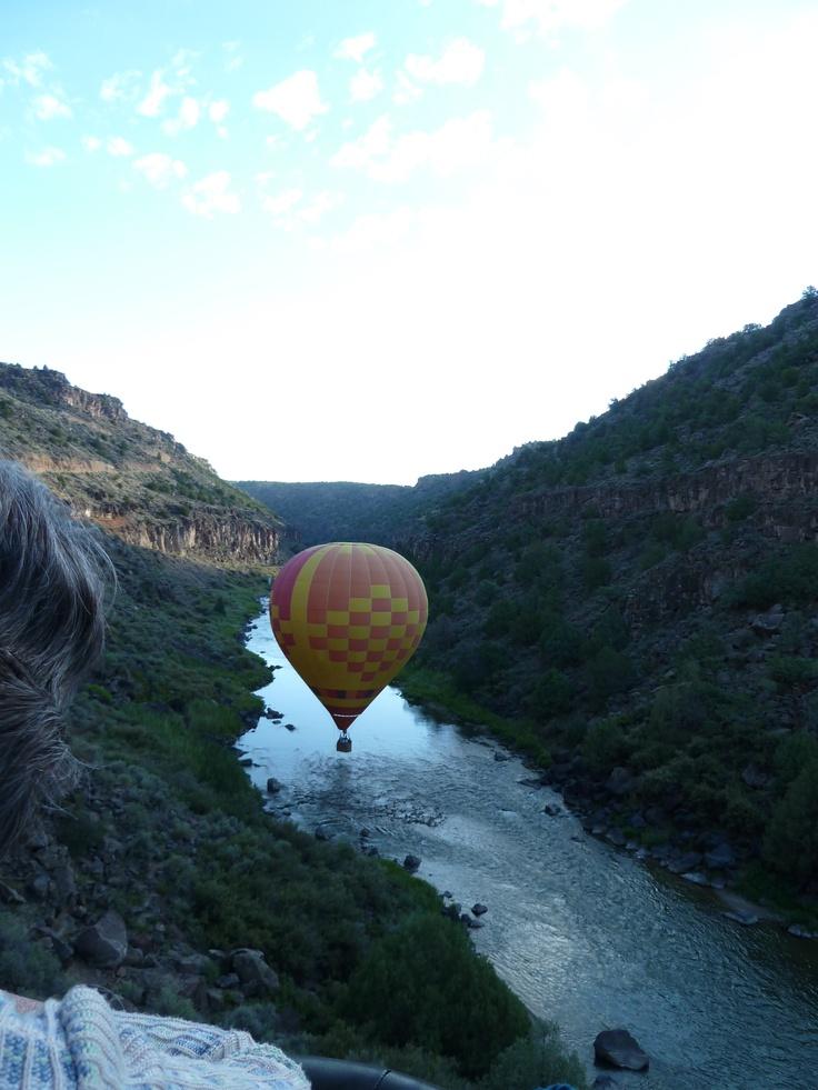Ballooning the Rio Grande Gorge in Taos, NM