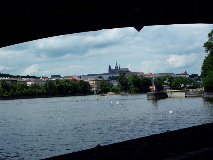 Prague's castle from Naplavka