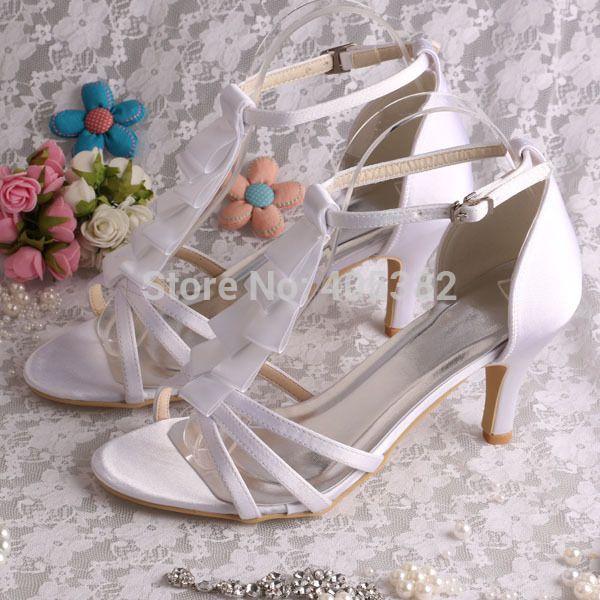 Wedopus MW767 Женщин Туфли Летние Гладиатор Римские Сандалии На Высоких Каблуках Белый Насосы Тонкие Каблуки Размер 8