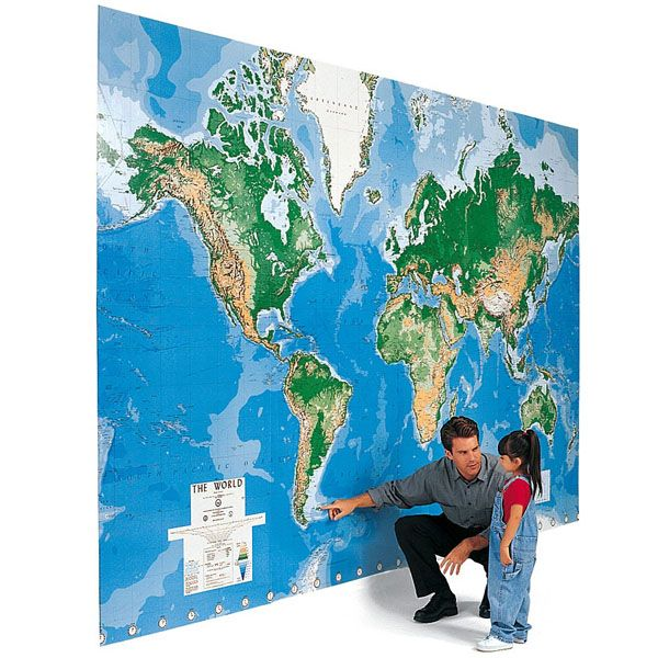 20 best Map images on Pinterest World map mural, Murals and Wall - best of world map for wall mural