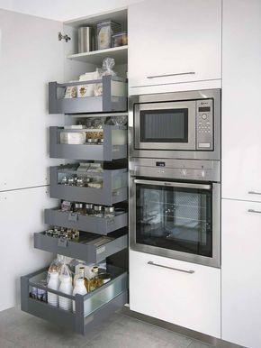 Хранение на кухне – задача не из лёгких: расположить огромное количество нужных вещей необходимо так, чтоб это было и удобно, и красиво.Мы собрали для вас 19 удачных примеров систем хранения на кухне...