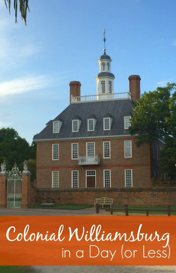 can you visit colonial williamsburg in a day virginia