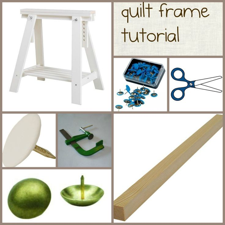 Celebrate Hand Quilting: DIY a (inexpensive) home hand quilting floor frame. Two sawhorses, two boards, and four clamps. That's as simple as it gets. The rest is pretty-making.