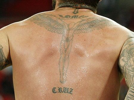 David Beckham's back tattoo