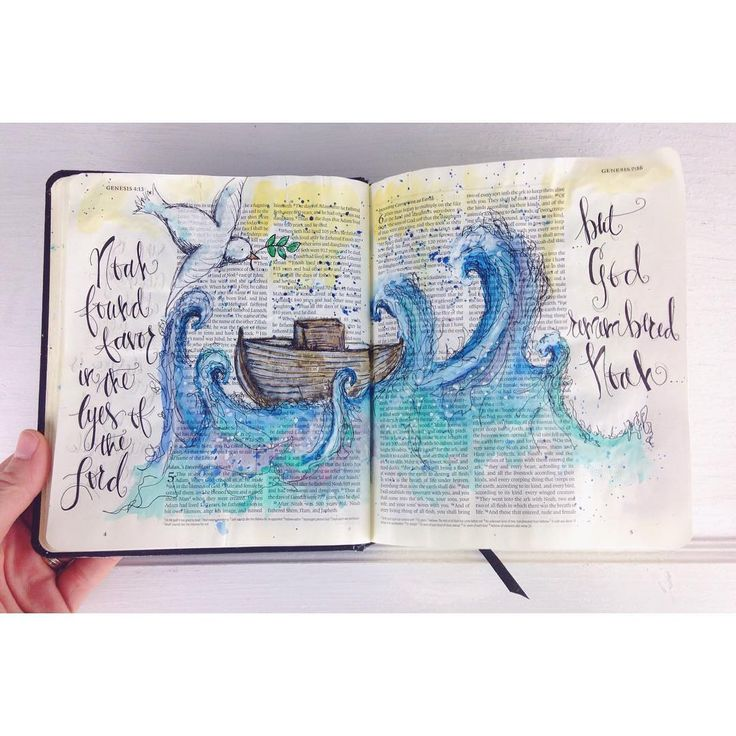 """""""""""But God remembered Noah and all the wild animals and the livestock that were with him in the ark, and he sent a wind over the earth, and the waters…"""""""