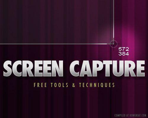 Screen Capture Tools: 40+ Free Tools and Techniques