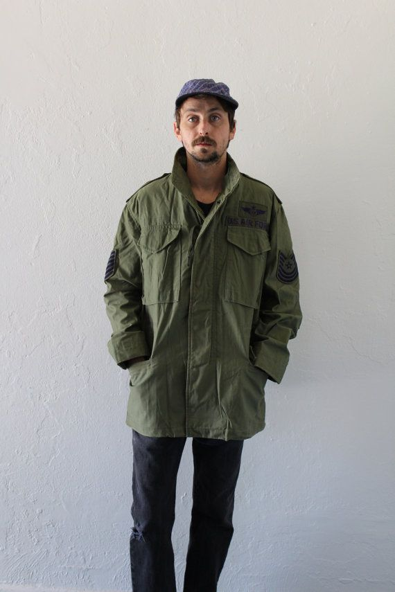 Hey, I found this really awesome Etsy listing at https://www.etsy.com/listing/226689251/70s-us-air-force-m65-field-jacket-mens