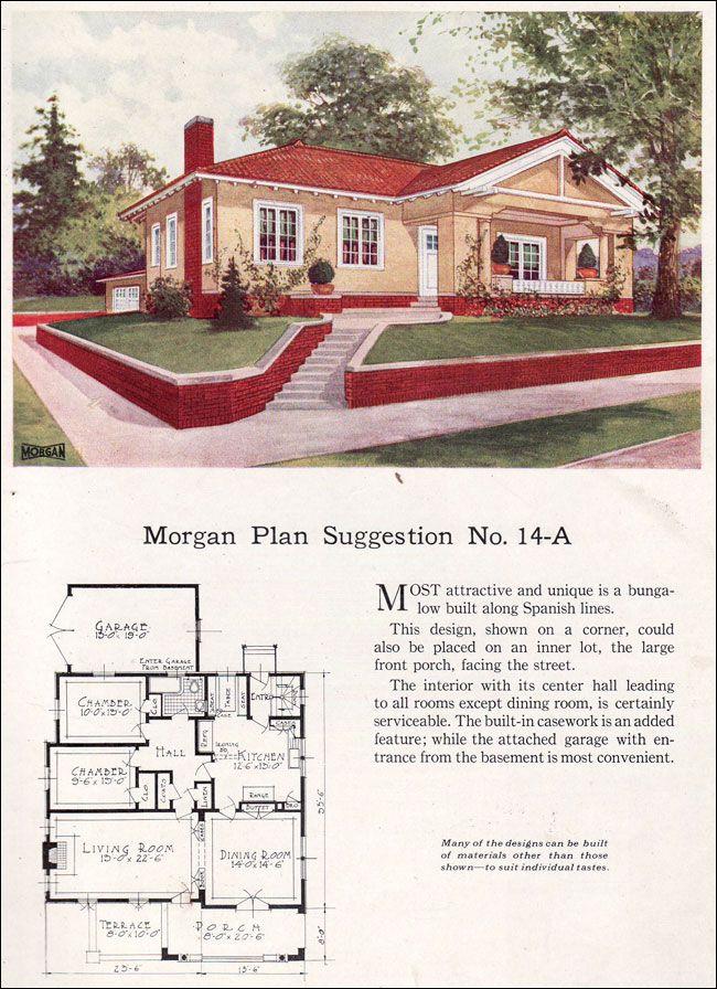 384 best Vintage House Plans images on Pinterest   Floor plans ...